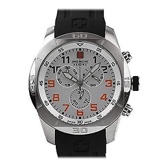 Swiss Military Hanowa Mens Quartz Watch with rubber strap Analogueico 06-4265.04.001.07