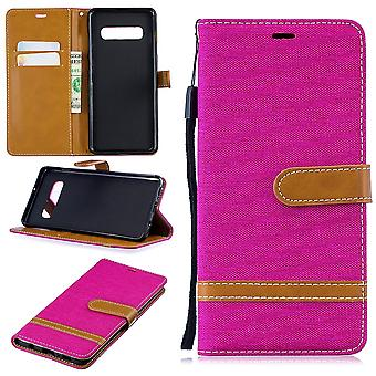 Samsung Galaxy S10 plus cell phone case protective bag case cover compartment pouch wallet pink