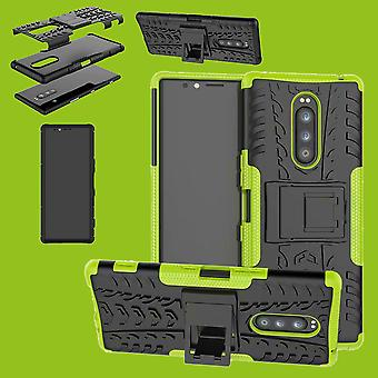 Hybrid tilfelle 2 stykke Koczian robot grønt for Sony Xperia 1 6,5 etuiet dekke beskyttelse