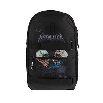 Metallica Backpack Skate Bag Sad But True Band Logo new Official Black