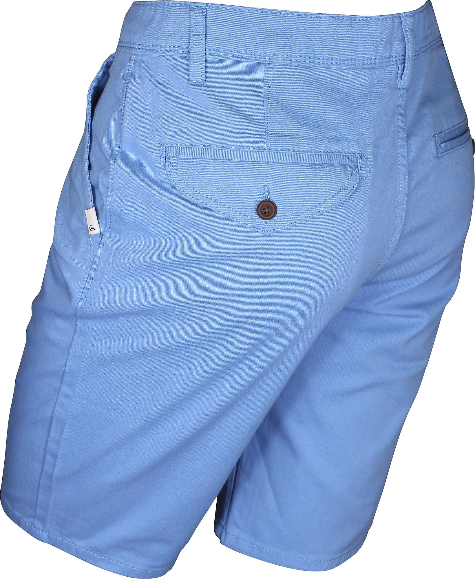 Quiksilver Mens nye daglige Chino Shorts - Silver Lake blå