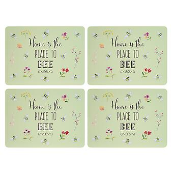 English Tableware Co. Bee Happy Set of 4 Placemats