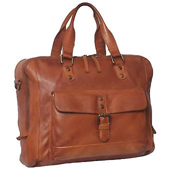 Ashwood nahka Spitafields gloving High VEG Medium työ Laptop Bag-Tan