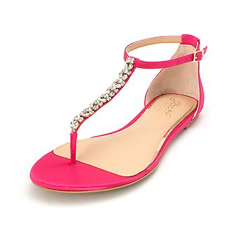 BADGLEY MISCHKA Womens Gabby Fabric Open Toe Casual Ankle Strap Sandals