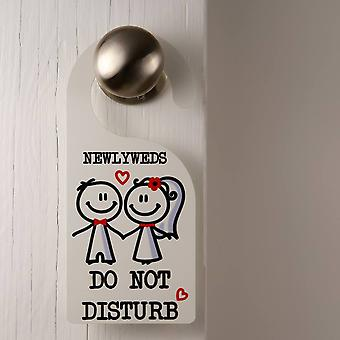 Newly Weds Door Hanger Do Not Disturb Red