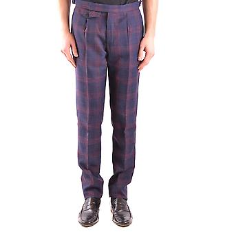 Incotex Ezbc093061 Men's Blue Wool Pants