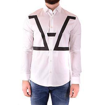 Les Hommes Urban Ezbc260009 Men's White Cotton Shirt