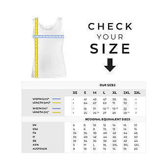 Belle Vest Top Script Text Logo Casual Tee Tops Womens New White Skinny Fit