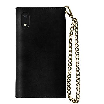 iDeal Mayfair Clutch Velvet preto iPhone XR