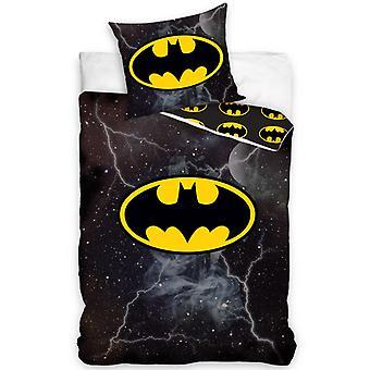 Batman Lightning enkelt dynebetræk og pudebetræk sæt