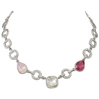 Eternal Collection Veronique Multi Crystal Silver Tone Statement Necklace