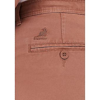 Kangol Mens Herren Chino Khaki täglichen Freizeithose Jeans Hose neu