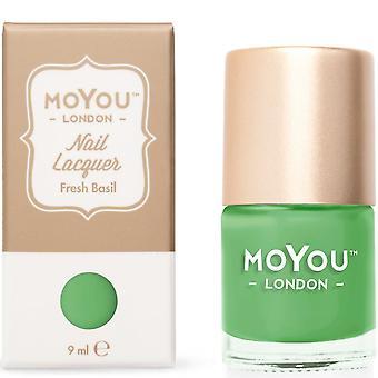 MoYou London Stamping Nail Lacquer - Fresh Basil 9ml (MN036)