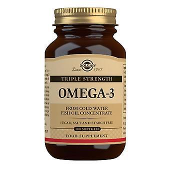 Solgar Omega-3 kolminkertainen lujuus Softgels 100 (2058)