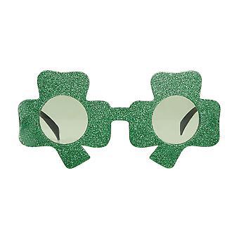 Bristol Novelty Unisex Clover Shaped Irish Glasses