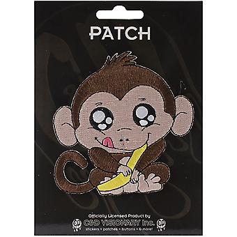 Patch - Animals - Monkey with Banana Iron On Gifts New Licensed p-4210