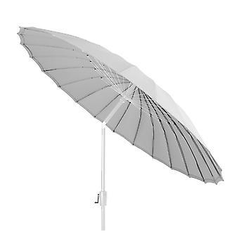 Beach7 | Shanghai parasol rond Spunacrylic doek |  Wit/Marble Grey | parasols