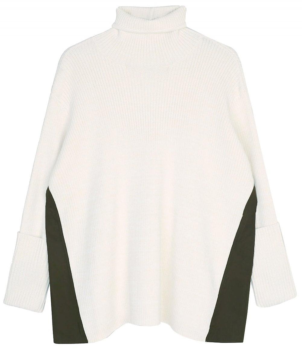 Unastar Men Slim Fit Hit Color V Neck Button Wild Knitting Cardigan