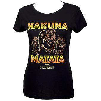 האריה מלך האקונה מאטה נשים חלוקה לרמות של ' חולצות שחורות