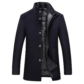 Allthemen Men's Solid Thick Warm Detachable Vest Overcoat