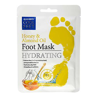 Escenti Cool Feet Foot Mask Sock ~ Honey And Almond Oil