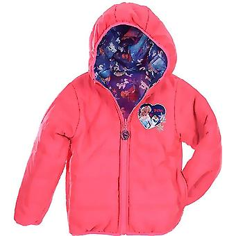 Girls DHQ1011 Disney Frozen Hooded Reversible Jacket
