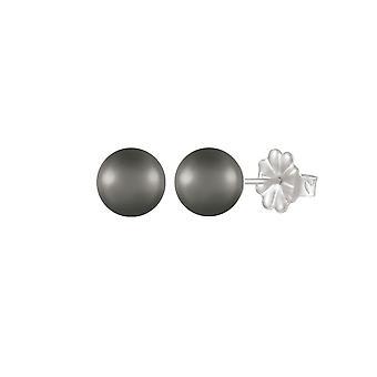 Ewige Sammlung Solo Hämatit Semi kostbaren Sterling Silber Gestüt Ohrstecker