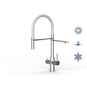 5 Way Inox Filter Tap Ideal For Professional Sparkling, Plain And Cooled Water Systems - Brushed Finish - White - 443