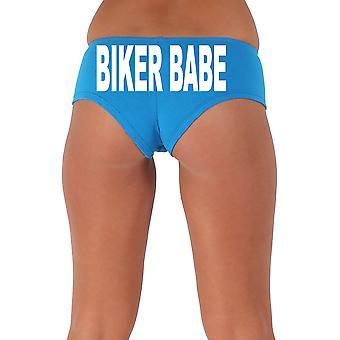 Women's White Biker Babe 3 Booty Shorts