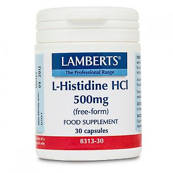 Lamberts L-Histidine HCl 500mg Caps 30 (8313-30)