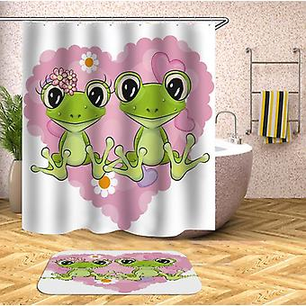 Lovely Cartoon Frogs Shower Curtain