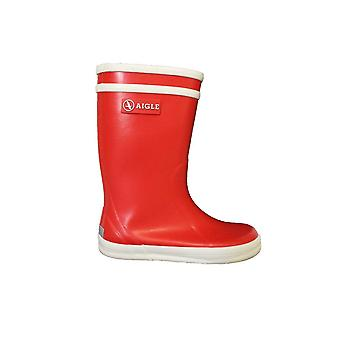 Aigle Lolly Pop Red Rubber Wellington Boots
