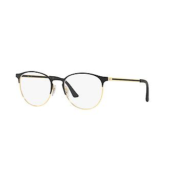 Ray-Ban RB6375 2890 Gold Top on Black Glasses