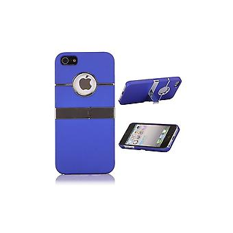 Plastic Shell Logo Apparent Support TV Blue For IPhone 5