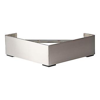 Jambe de meubles de jambe de jambe d'angle en acier inoxydable 6.5 cm