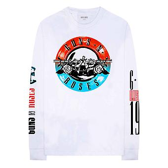 Guns N Roses T Shirt Motorcross Band Logo new Official White Long Sleeve Unisex
