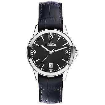 Michel Herbelin Mens Ambassador Leather and Stainless Steel Case 12250/14 Watch