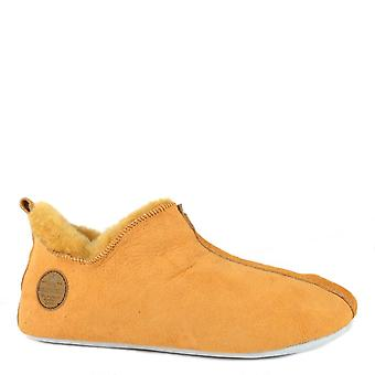 Shepherd of Sweden Lina Mustard Suede Slipper Boot