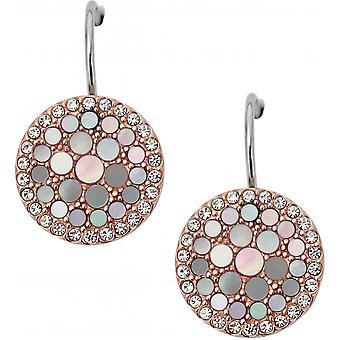Fossil earrings JF01737791 - Round Earrings Ros es