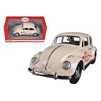 1966 Volkswagen Beetle \Coca Cola\ The Real Thing 1/24 Diecast Car Model by Motorcity Classics