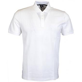 Hugo Boss Pallas Regular Fit Pima Cotton White Polo