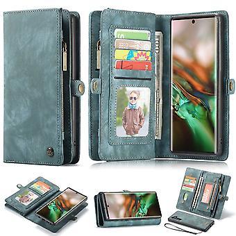 Voor Samsung Galaxy Note 10 Case, Wallet PU Lederen afneembare flip cover, blauw