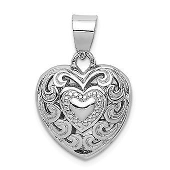 925 εξαιρετικό ασημένιο ρόδιο επιμεταλλωμένα κομμένα έξω αγάπη καρδιά στροβιλισμού κρεμαστό κόσμημα κολιέ κοσμήματα για τις γυναίκες