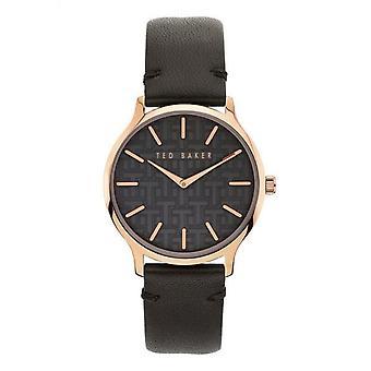 Ted Baker BKPPOF902 Donne's Poppiey Black Strap Wristwatch