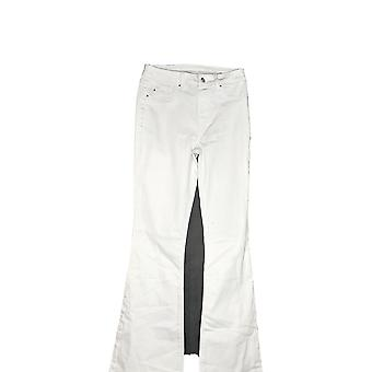 Laurie Felt Women's Tall Silky Denim Flare Pull-On Jeans White A347424