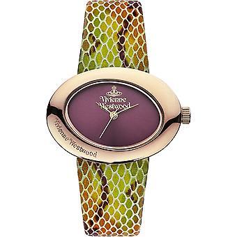 Vivienne Westwood ellipsi violetti nahka hihna Ladies Watch VV014RS