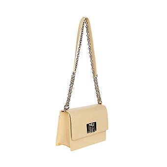 Furla 1056935 Women's Yellow Leather Shoulder Bag
