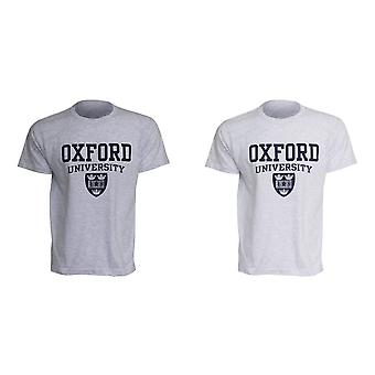 Mens Oxford University Print Short Sleeve Casual T-Shirt/Top