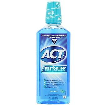 Act restoring anticavity fluoride mouthwash, cool mint, 18 oz