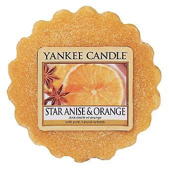 Yankee Ljus vax tårta smälta stjärnan anise och orange
